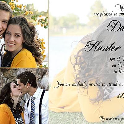 Hunter and Dani Wedding Invite