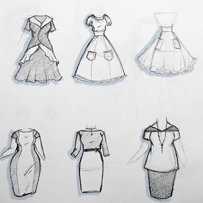 2019-05 - dress sketches